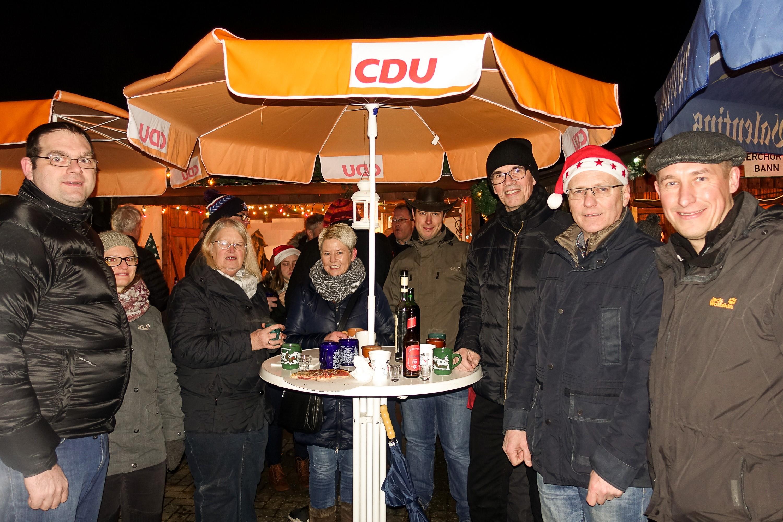 CDU Bann auf dem Weihnachtsmarkt 2017